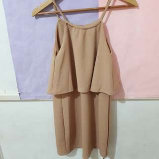 Nude Choker Dress