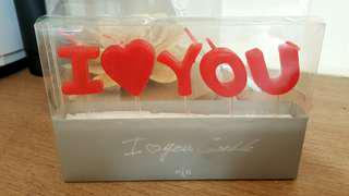 [NEW] I LOVE YOU Candle