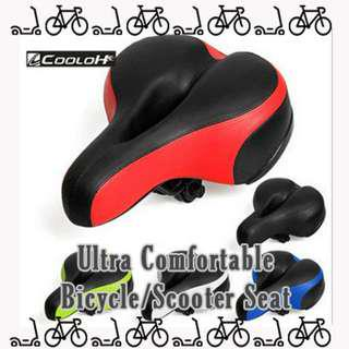 brand new in stock Ultra Comfortable Bicycle / Scooter Seat for long distance Riding Large base Chair