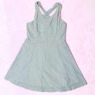 X Strap Mini Dress