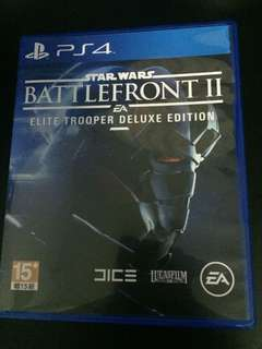 PS4 Star Wars Battlefront 2 Elite Trooper Deluxe Edition (Used but in perfect condition)
