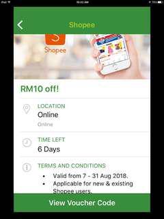 Shopee rm10 voucher code