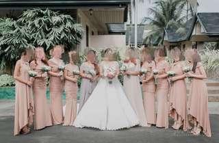 Bridesmaids & Junior Bridesmaids Gown for Rent