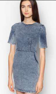 Zalora Love Denim Bodycon Dress