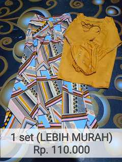 1 set matching abstract+mustard
