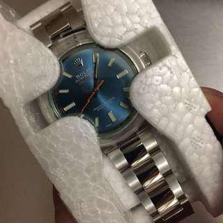 Rolex milgauss blue dial 116400 GV