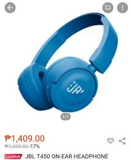 JBL T450 ON EAR HEADPHONE