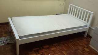 Single bed frame with mattress 1unit left - LAST UNIT