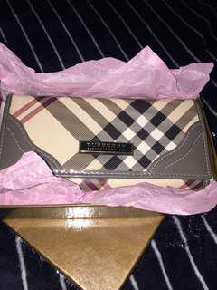 Burberry Vintage Check Leather Continental Long Wallet