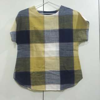 Yellow Checked Top