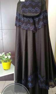 NEW Mukena Baby Silk Black