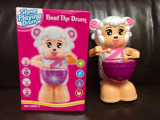 小羊打鼓兒童玩具有聲發光二手