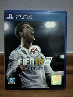 FIFA 18 PS4 code unredeemed with Original poster of CR7