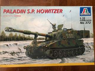 🚚 1/35 scale Paladin S.P. Howitzer tank model kit
