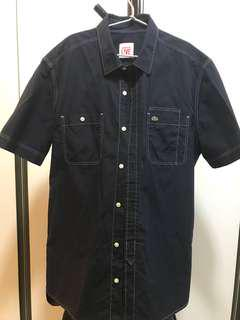 Lacoste dark blue short sleeve shirt