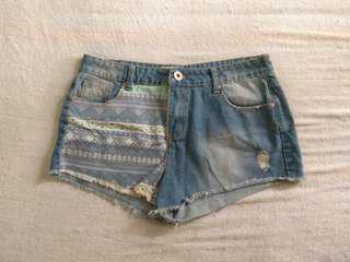 Cotton On Aztec Denim Shorts #under90