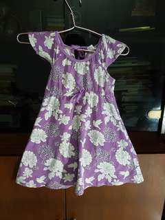Purple dress anak