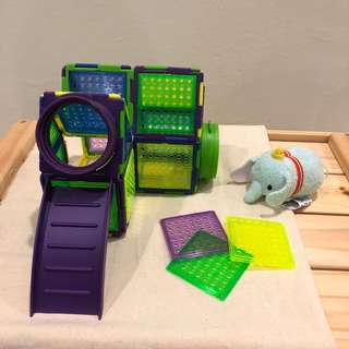 Colorful transparent playground/house for hamster
