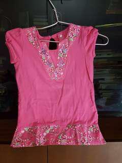 Pumpkin patch pink shirt