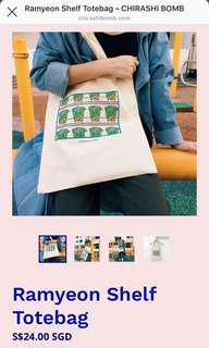 Chirashibomb Ramyeon Shelf Totebag
