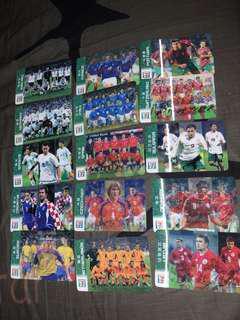 2002年世界杯 7eleven 珍藏紀念卡一套