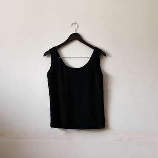 Basic black sleeveless top