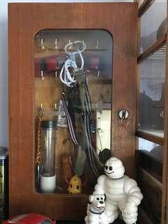 Vintage Retro key press with 24 hooks and lock