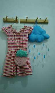 Jumpsuit pink Rp.25.000