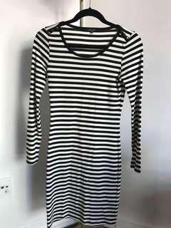 Cotton stripped dress