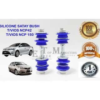 SILICONE SATAY BUSH TOYOTA VIOS 02 NCP42 / VIOS 14 NCP150 (1Pair) blue silicone