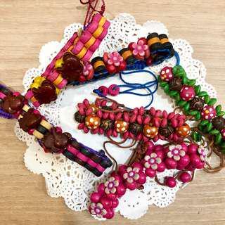 BN Set of 6 Handmade Beads Bracelet
