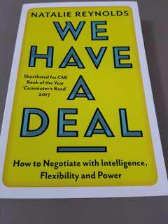 🚚 Negotiation book- We have a deal