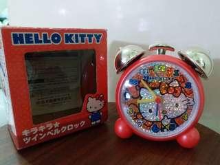 (二手)1976,2012 sanrio Hello Kitty 時鐘 鬧鐘 (膠質料)
