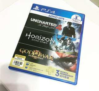 PS4 UNCHARTED 4 + HORIZON ZERO DAWN