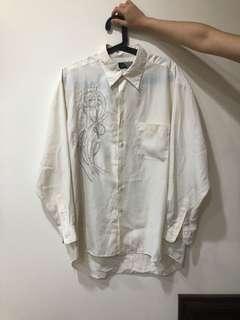 🚚 日本男裝絲質襯衫材質好oversize