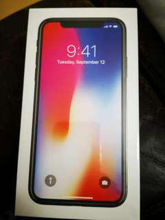 iPhone X 256gb (new & sealed)