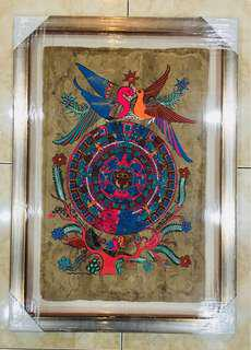 Mexican Aztec Calender on amate.