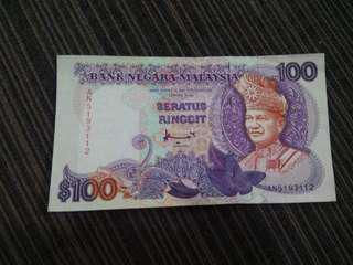 Old Malaysia $100 currency..