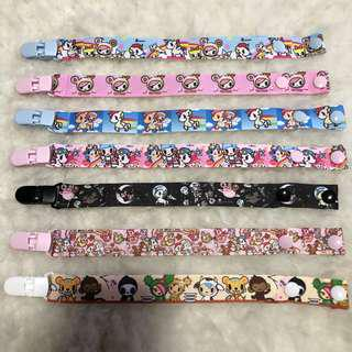 HANDMADE WITH LOVE BRAND NEW Pacifier Clip tokidoki 7 designs to choose, option to add name, personalise it, customise