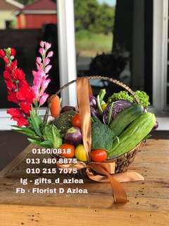 Gubahan sayur untuk hiasan meja