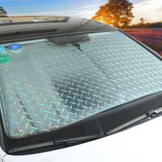 Front Car Sunshade Windshield-Jumbo/Standard Sun Shade Keeps Vehicle Cool-UV Ray Protector Sunshade
