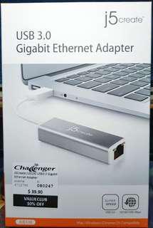 j5create USB 3.0 to Gigabit Ethernet Adapter (brand new)