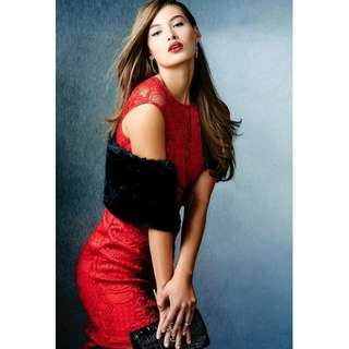 5e8d9ac9b93 GUESS Red Lace Bodycon Dress  SwapCA