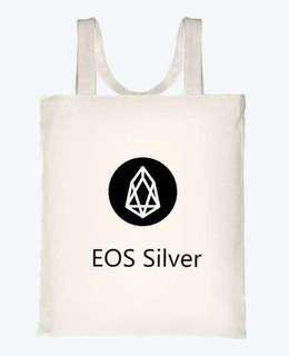 EOS Silver Canvas bag
