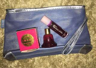 Avon Set (Lip and cheek tint + Imari Holiday Cologne + Pouch)