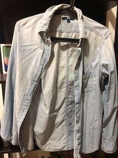 Uniqlo denim cotton shirt
