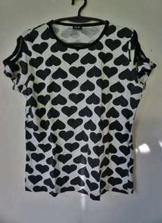 H&M heart blouse