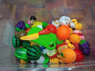 Cutting fruits/ vegetables & soft toys