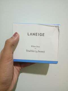 Laneige White Dew Trial Kit - 4 Items + 1