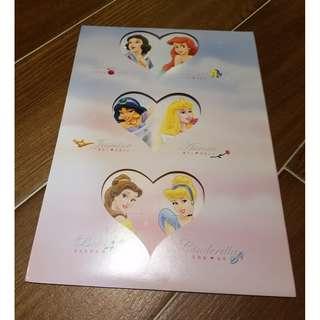 台灣 Disney Princess 迪士尼公主 郵票套摺
